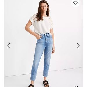 Madewell The Mom Jean in Melva Wash